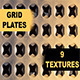Grid Plates - 9 Textures - GraphicRiver Item for Sale