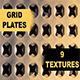 Grid Plates - 9 Textures