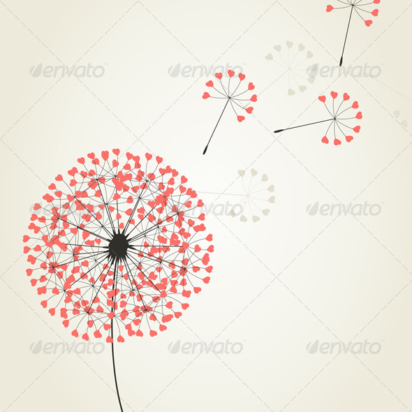 Graphic River Love dandelion2 Vectors -  Conceptual  Nature  Flowers & Plants 761715