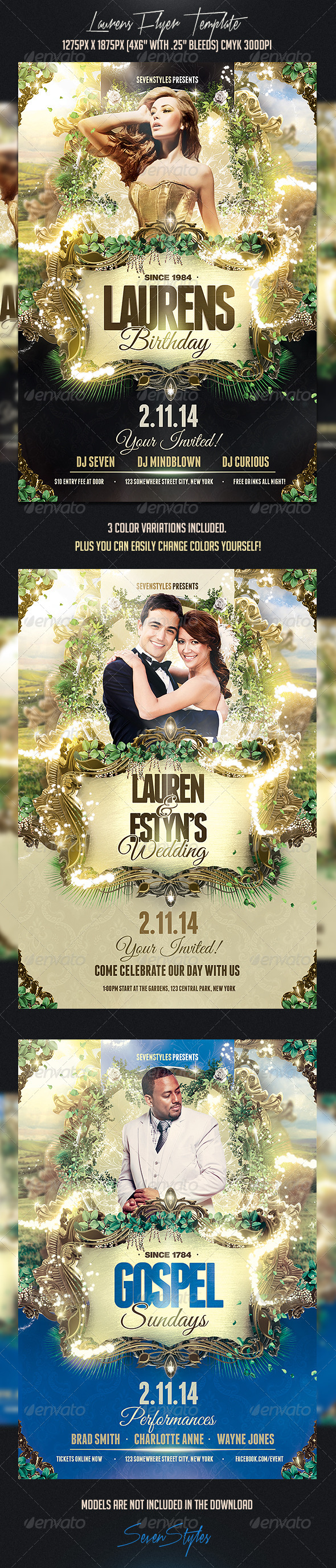 Laurens Flyer Template - Flyers Print Templates