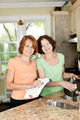 Two women doing dishes in kitchen - PhotoDune Item for Sale