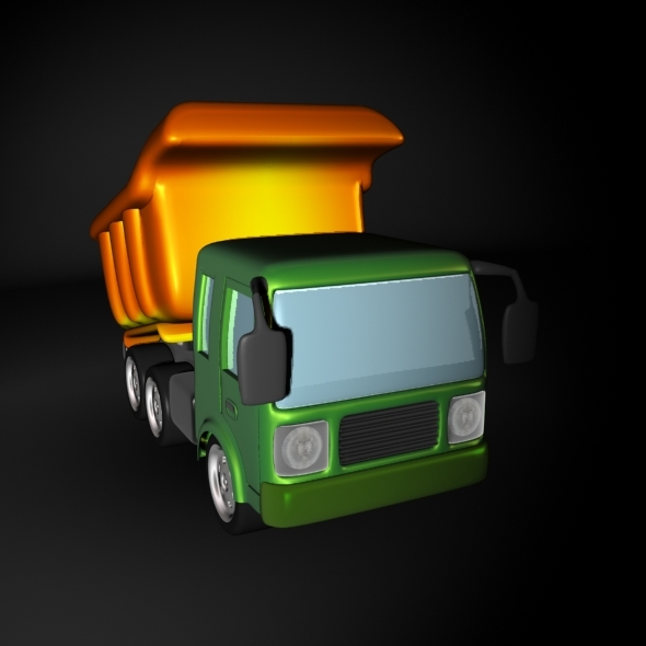 Cartoon Dump or Sand Truck - 3DOcean Item for Sale