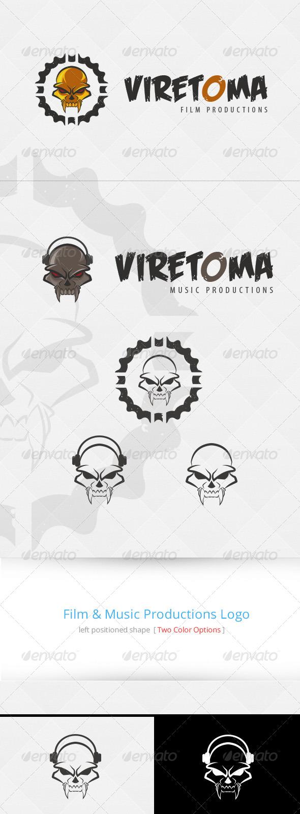 Skull Film & Music Logo Template