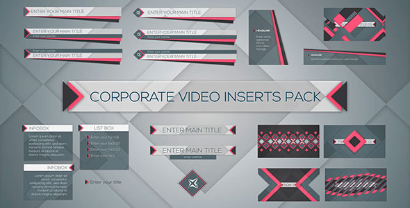 Corporate Video Inserts Pack