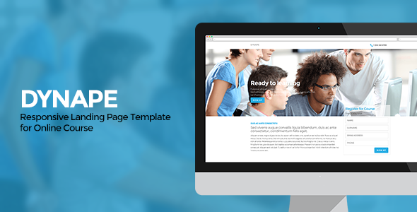Dynape - Responsive Landing Page for Course