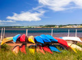 Kayaks at Atlantic shore in Prince Edward Island - PhotoDune Item for Sale