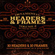 Ornamental Headers & Frames v.2 - GraphicRiver Item for Sale