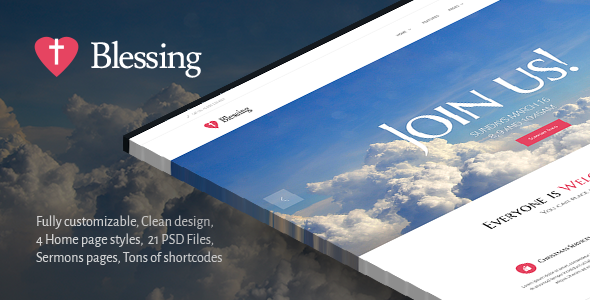 Blessing | Clean Responsive Religion Theme - Churches Nonprofit
