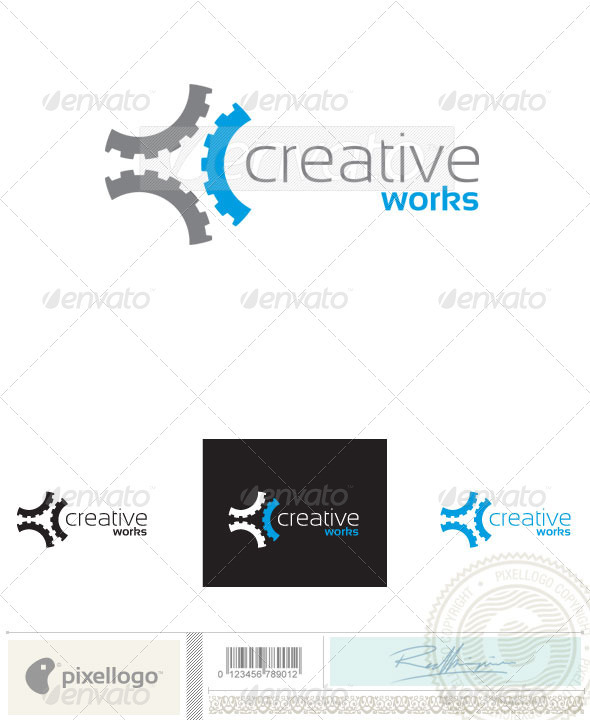 Gear logo 2407 graphicriver for Mechanical logos for t shirts