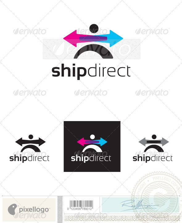 Transportation Logo - 2409 - Humans Logo Templates