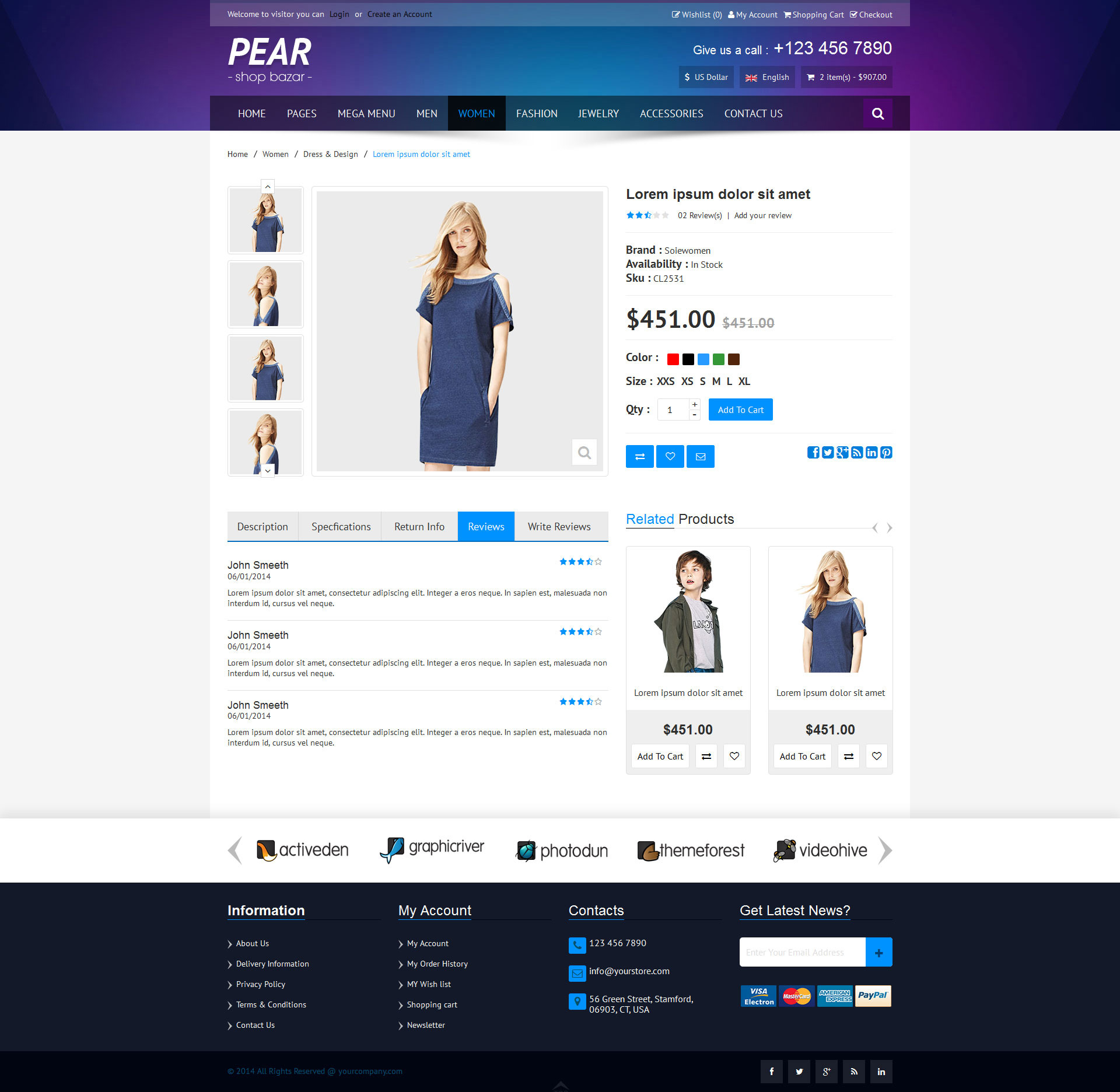 Pear - Responsive E-Commerce HTML Template V1.1