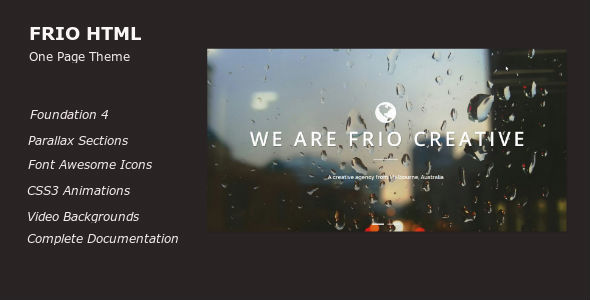 Frio One Page Parallax Responsive Template - Creative Site Templates