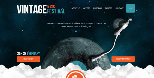 Vintage Festival / Concert / Night Club Theme