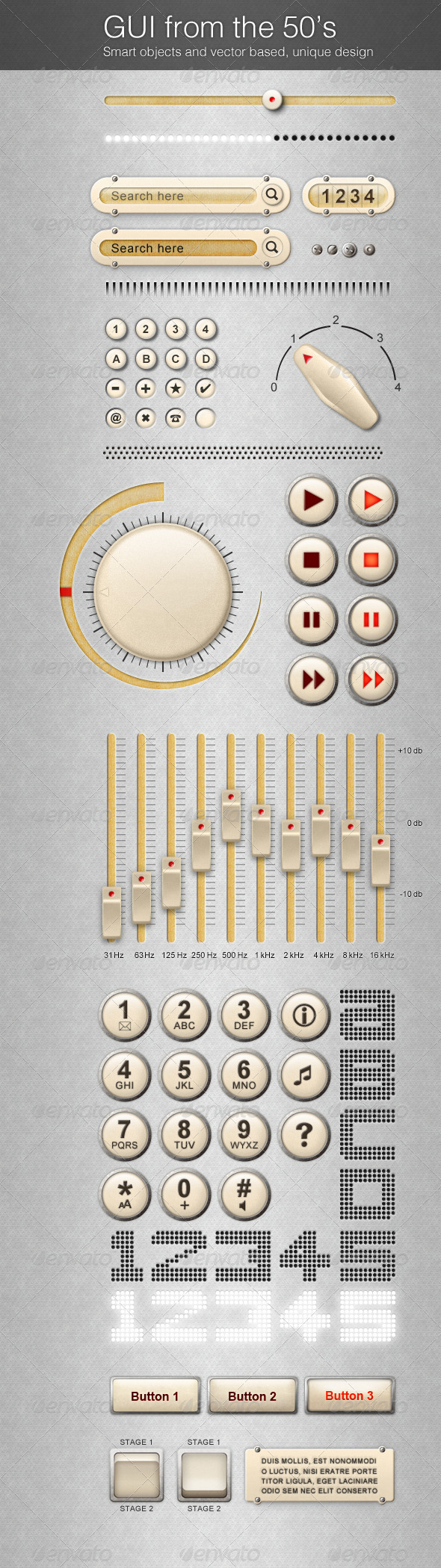 GraphicRiver 50 s GUi Graphical User Interface 762303