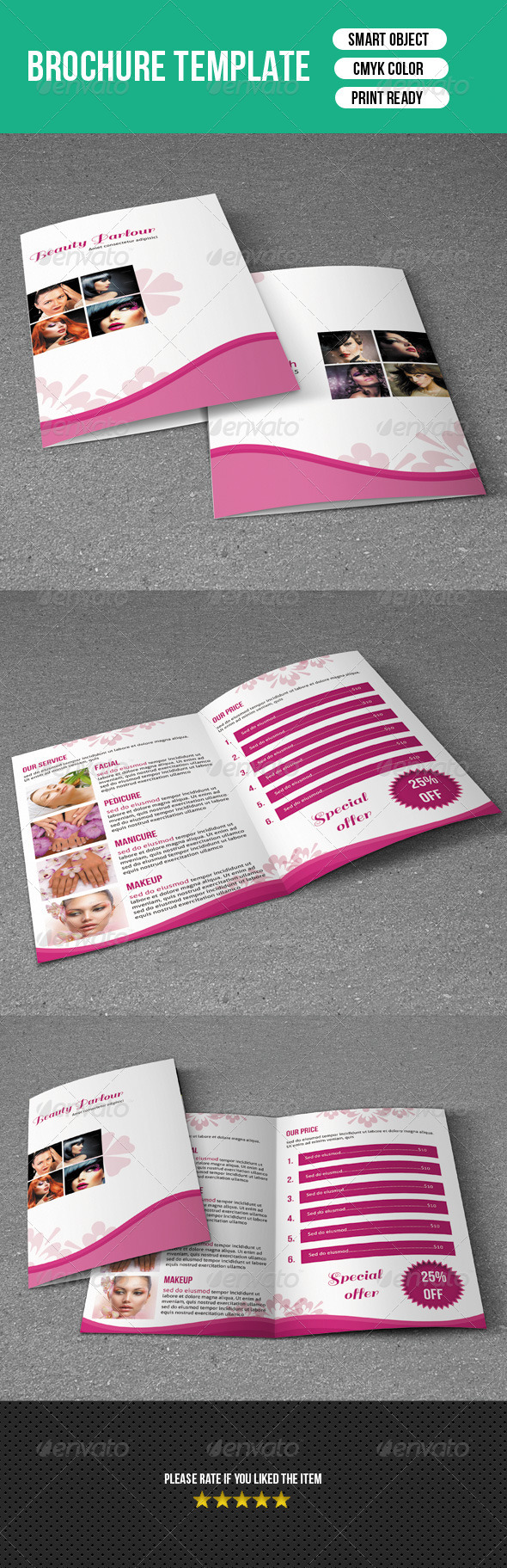 Trifold Brochure-Beauty Salon