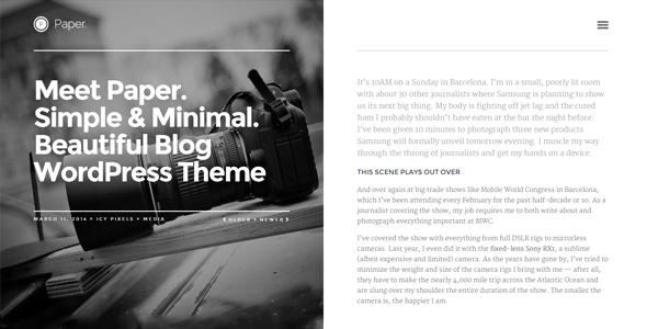 Paper: Responsive WordPress Blog Theme