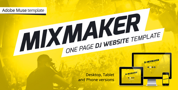 MixMaker - DJ Website Muse Template - Personal Muse Templates
