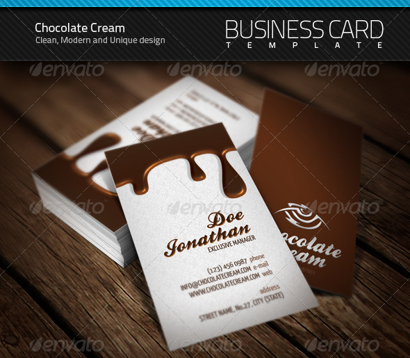 GraphicRiver Chocolate Business Card 238736