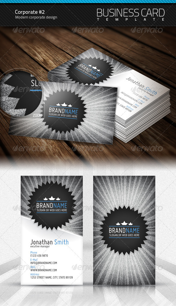 Corporate Business Card #2 - Corporate Business Cards