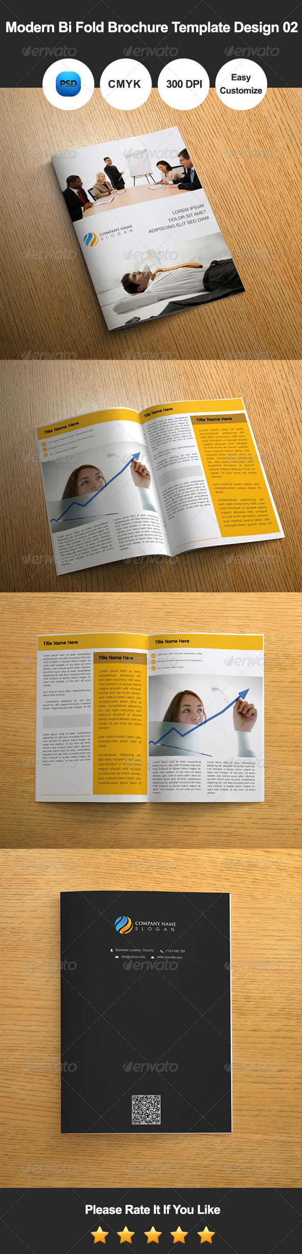 Bi fold Brochure Template Design at Cheap rate!!! Preview