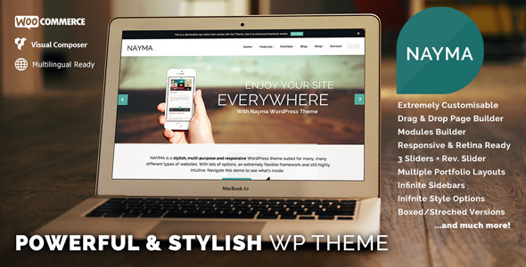 Nayma - Responsive Multi-Purpose WordPress Theme - Corporate WordPress