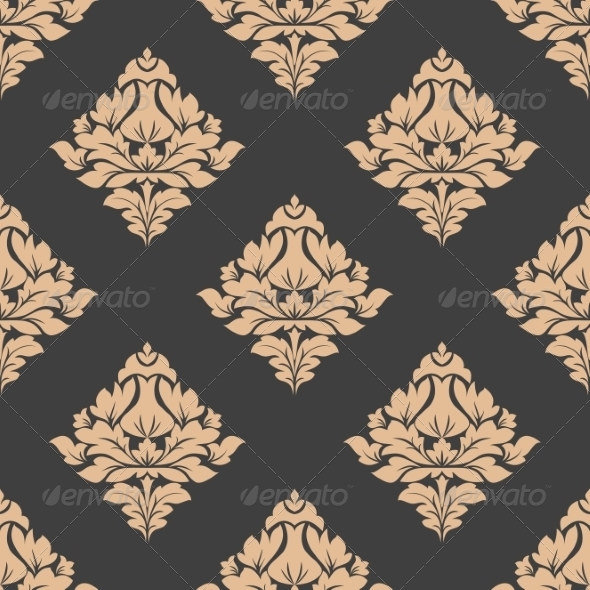 Grey and Beige Seamless Pattern
