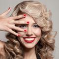 Beautiful Smiling Woman. Healthy Long Curly Hair - PhotoDune Item for Sale