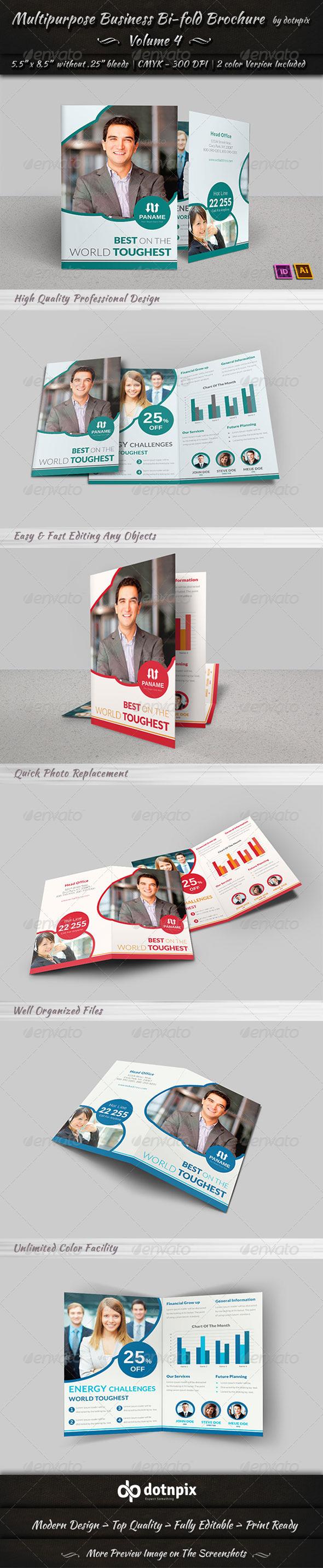 Multipurpose Business Bi-Fold Brochure Volume 4