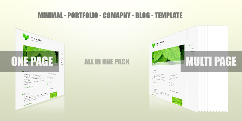 Mint Design - Minimal Portfolio Company Blog Template