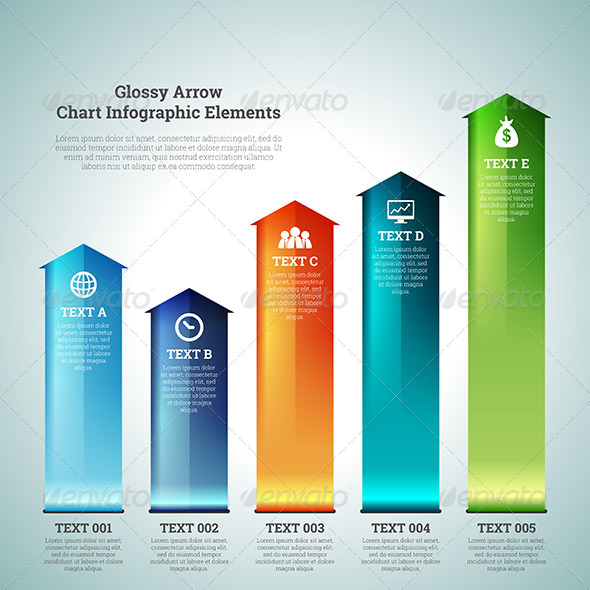 GraphicRiver Glossy Arrow Chart Infographic Elements 7369724