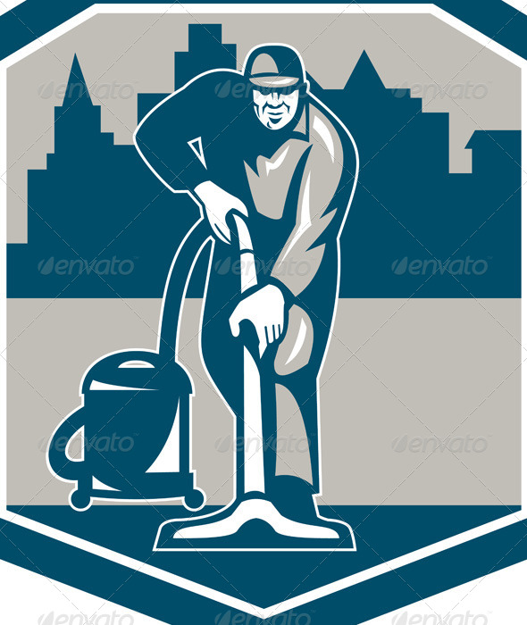 Carpet Cleaning Logo Ideas Janitor Cleaner Vacuum