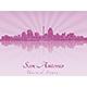 San Antonio Skyline in Purple Radiant Orchid - GraphicRiver Item for Sale