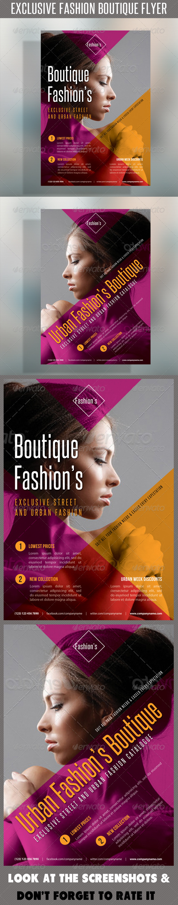 Fashion Product Flyer 46 - Flyers Print Templates