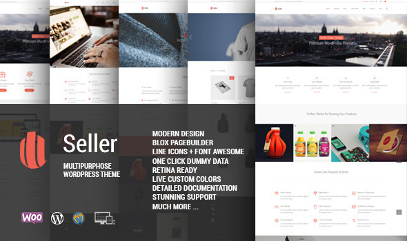 Seller is a modern, responsive WordPress theme that builds any type of page design easily with an awesome Page Builder. The theme has capacity of all kind of bu