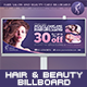 Hair & Beauty Billboard - GraphicRiver Item for Sale