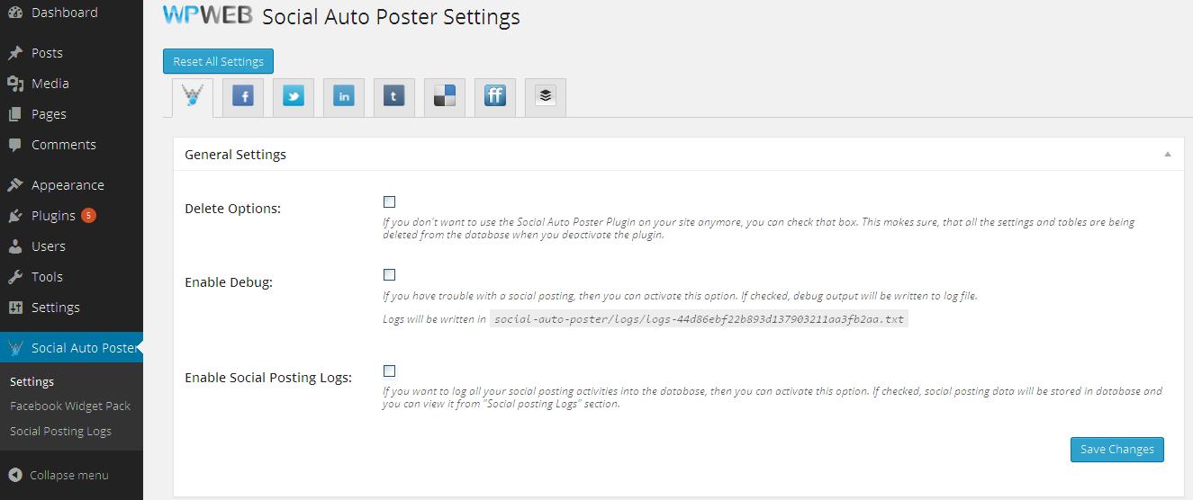 Social Auto Poster - WordPress Plugin