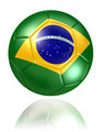 brazil flag on soccer ball on white background - PhotoDune Item for Sale