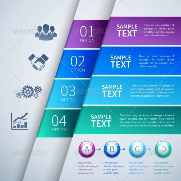 GraphicRiver Paper infographics template 7373581