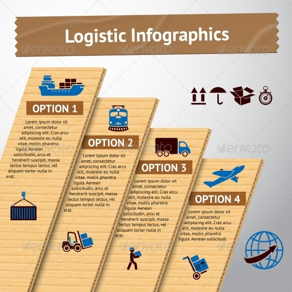 GraphicRiver Logistic infographic template 7373800
