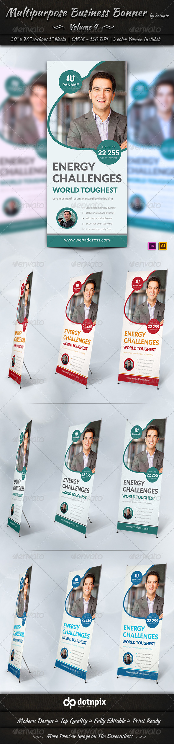 Multipurpose Business Banner Volume 4