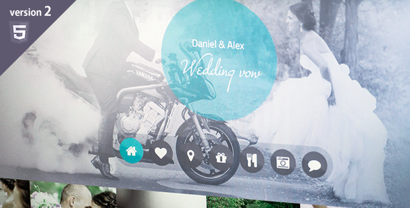 Wedding vow - responsive HTML template