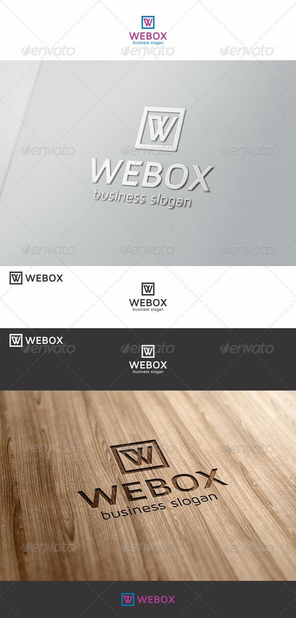 Webox W Logo - Letters Logo Templates