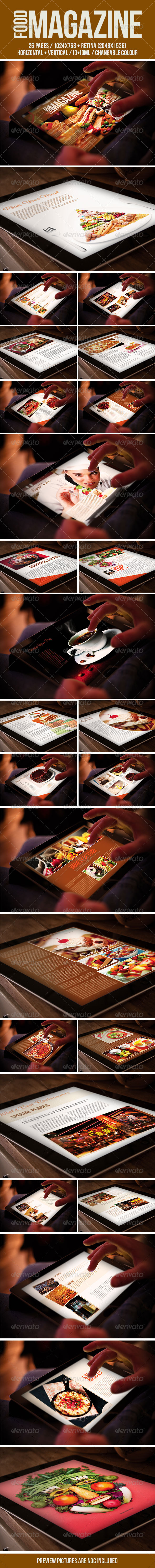 GraphicRiver Tablet Food Magazine Template 7374872