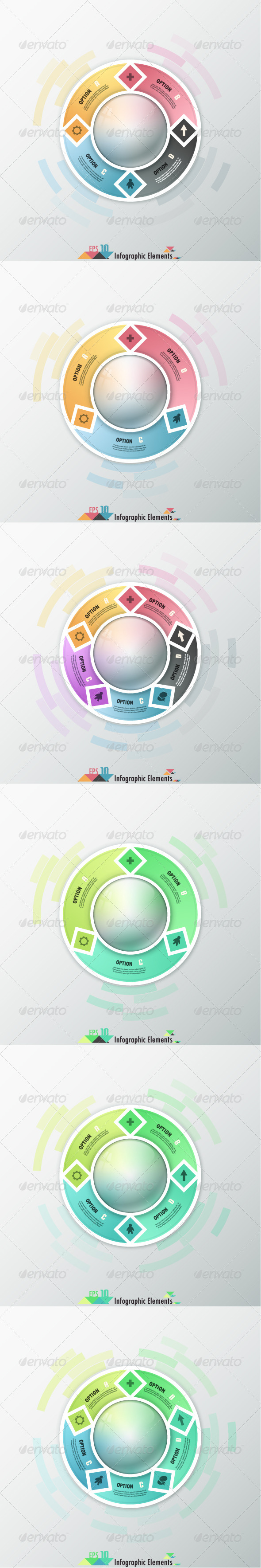 GraphicRiver Modern Infographic Options Banner 6 Versions 7375591