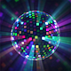 Colourful Mirror Disco Ball VJ Loop