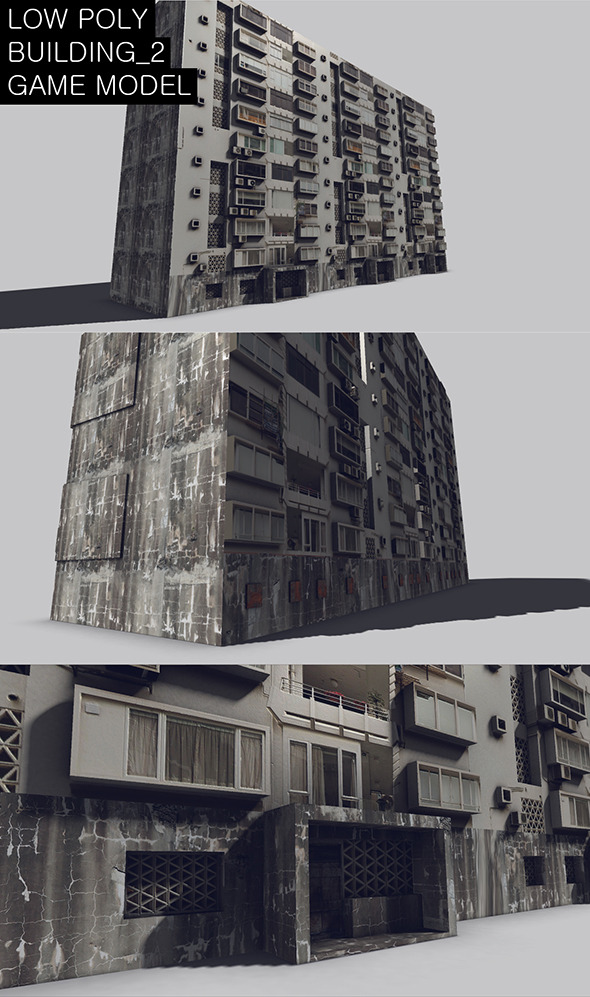 Low Poly Building 2 Game Model