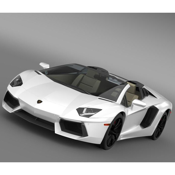 Lamborghini Aventador LP 700 4 Roadster US spec - 3DOcean Item for Sale