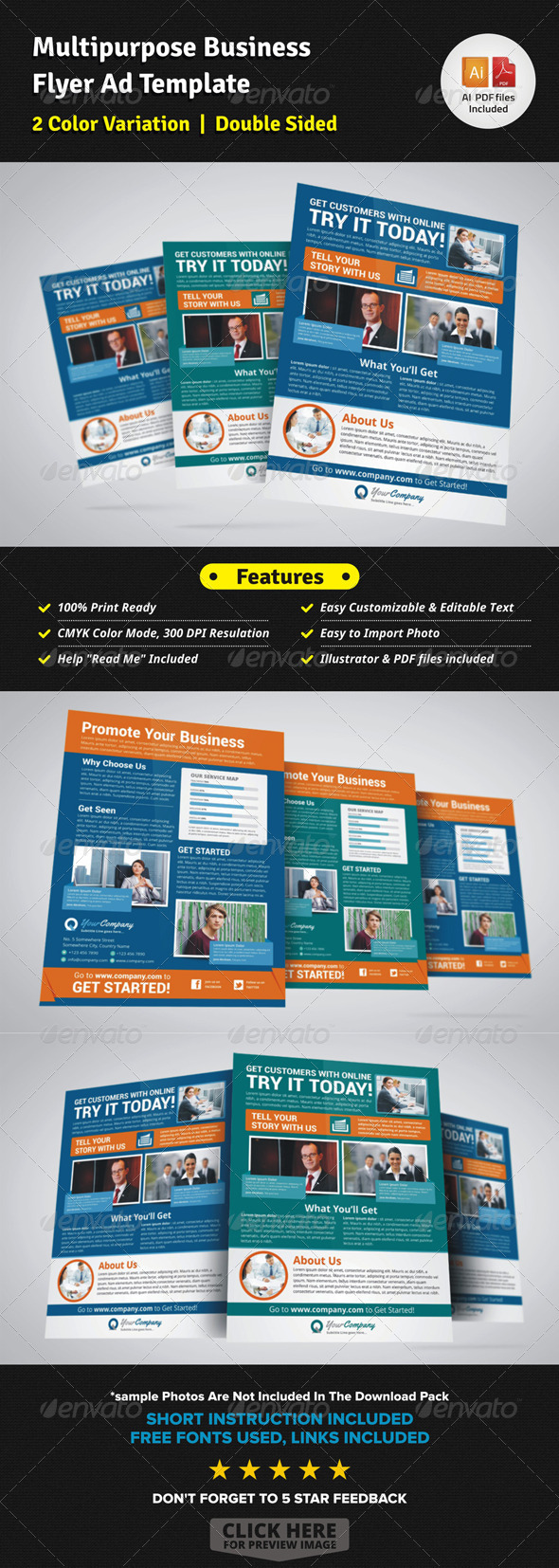 Multipurpose Business Flyer Ad Template