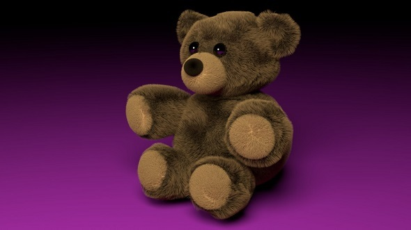 Fluffy Teddy Bear - 3DOcean Item for Sale