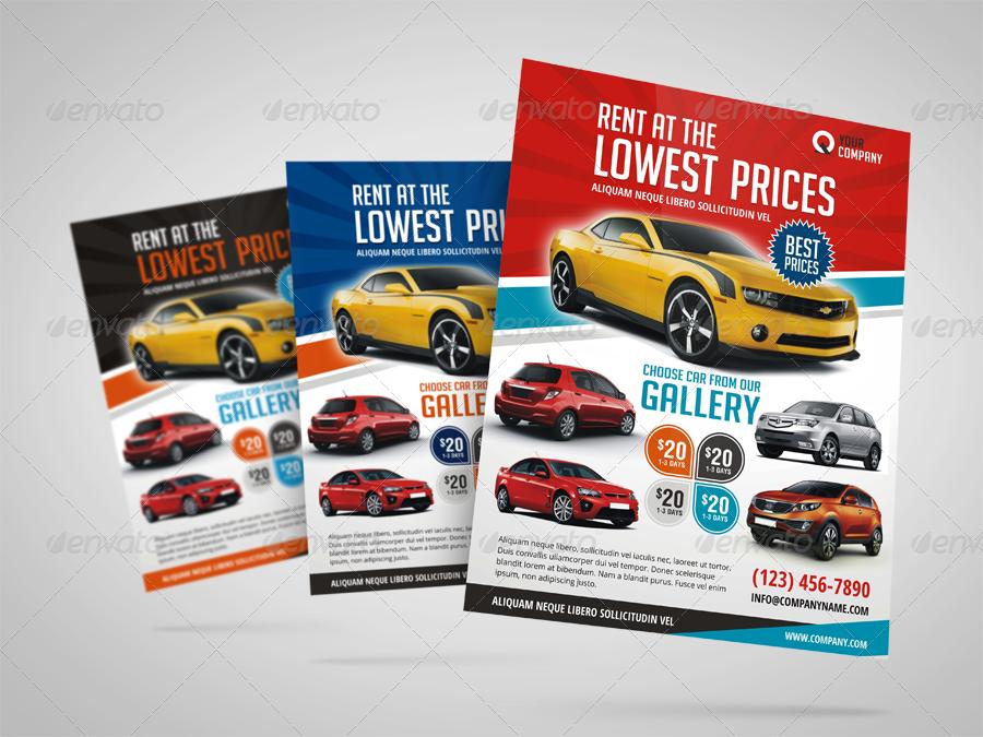 automotive car rental flyer ad graphicriver. Black Bedroom Furniture Sets. Home Design Ideas